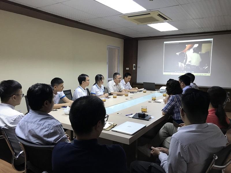Làm việc với các Giáo sư trường Đại học Khoa học Công nghệ Nam Đài Loan