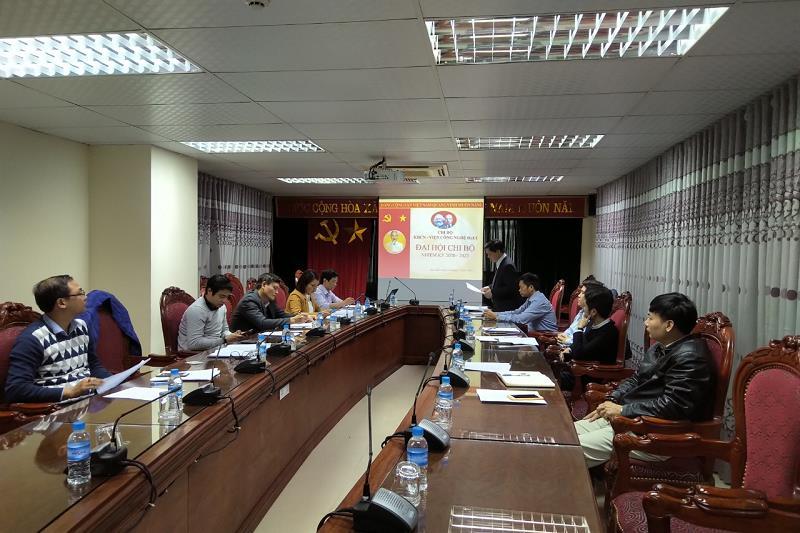 Chi bộ KHCN – Viện Công nghệ HaUI tổ chức đại hội chi bộ nhiệm kỳ 2020 - 2023