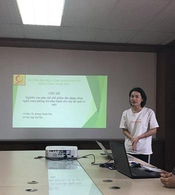 Báo cáo kết quả nghiên cứu của các sinh viên ngành CN Hóa tại LAB Hóa – Sinh, Viện CN HaUI