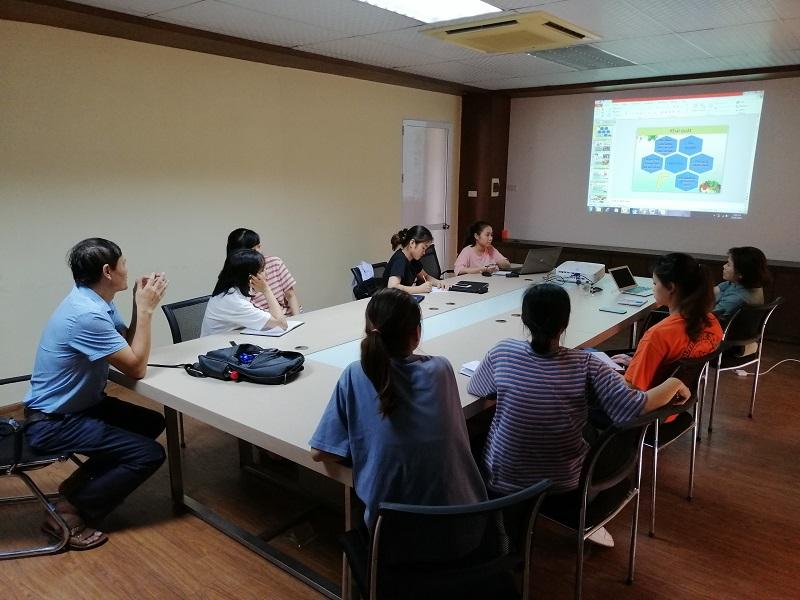 Báo cáo định kỳ kết quả nghiên cứu của nhóm sinh viên ngành CN Hóa tại LAB Hóa – Sinh, Viện Công nghệ HaUI do TS. Vũ Thị Cương hướng dẫn